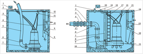 排污泵电缆浮球开关接线图